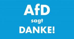 AfD sagt Danke!