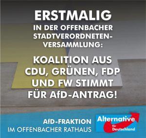 CDU, Grüne, FDP und FW stimmen für Antrag der AfD!