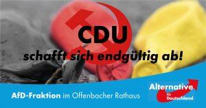 Read more about the article CDU schafft sich endgültig ab!