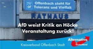 AfD weist Kritik an Höcke-Veranstaltung zurück!