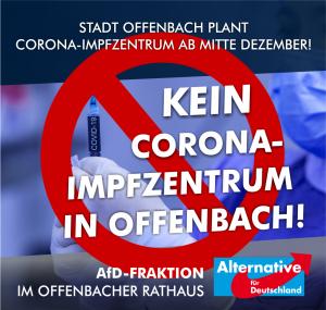 Kein Corona-Impfzentrum in Offenbach!