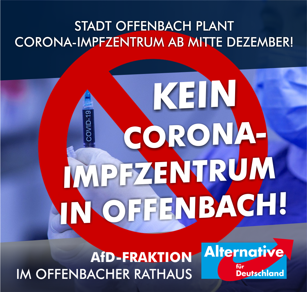 Read more about the article Kein Corona-Impfzentrum in Offenbach!