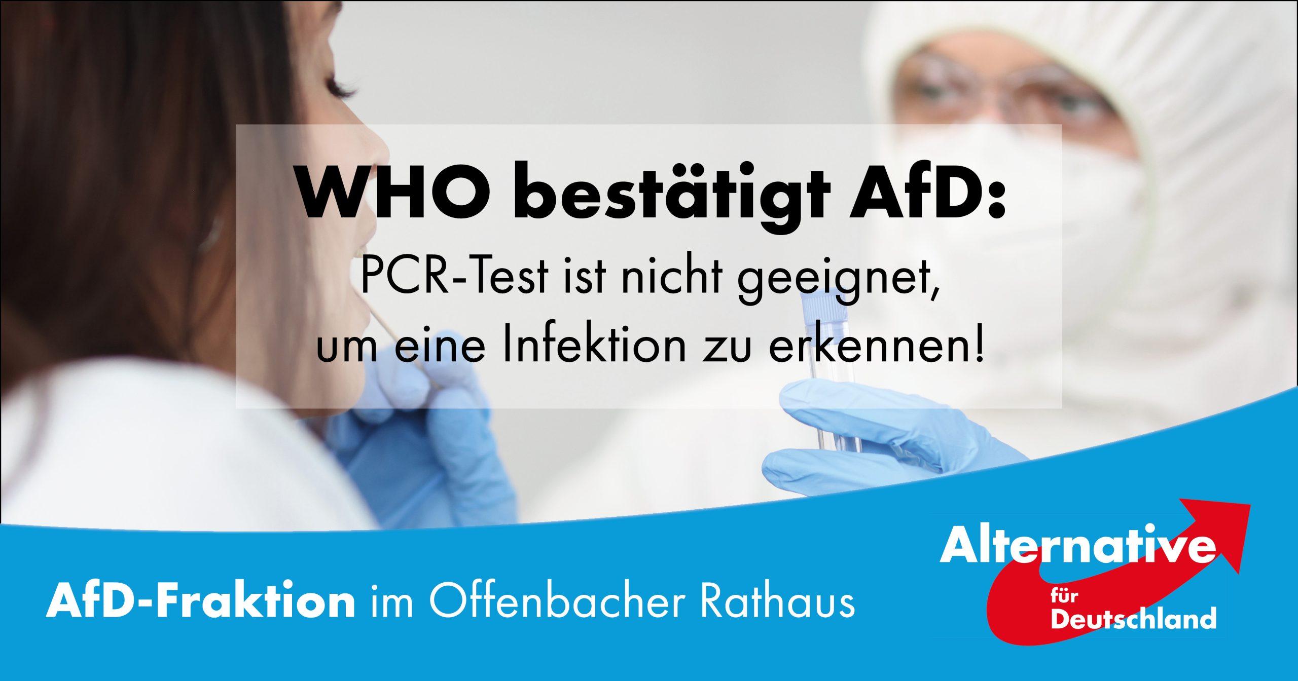 WHO bestätigt AfD!